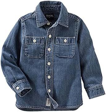 OshKosh B'Gosh Boys' Woven Buttonfront 21502010, Denim, 2T