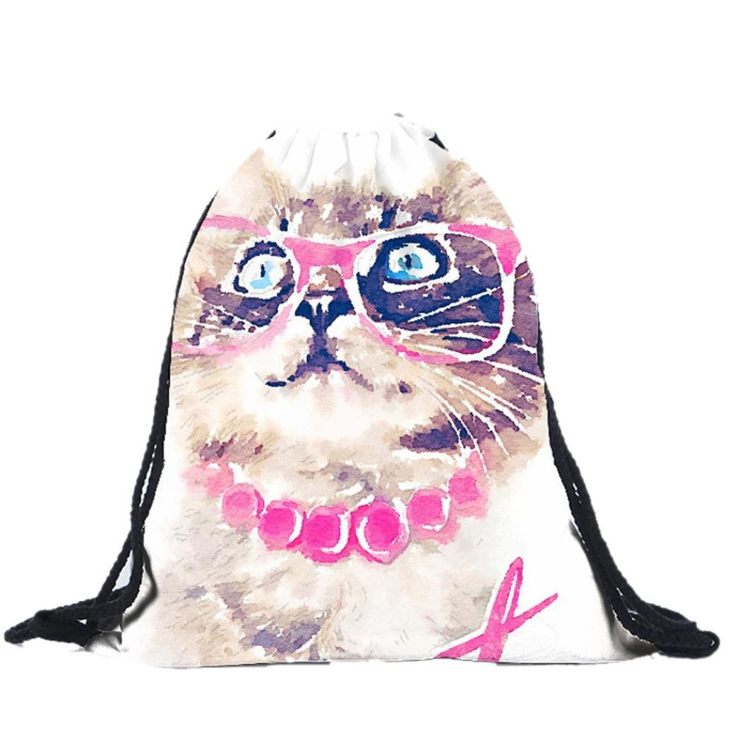 Amazon.com | Fabal Drawstring Bag cat mochila 3D Printing Sac A Dos School Bags for Teenage Girls Mochilas (A) | Drawstring Bags