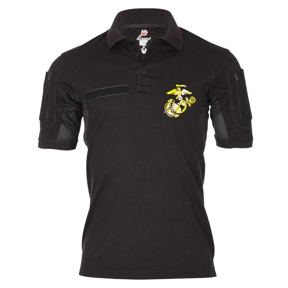 Tactical Poloshirt Alfa USAF Marines Vereinigte Staaten Militär Wappen Abzeichen Polo Hemd Emblem  19485