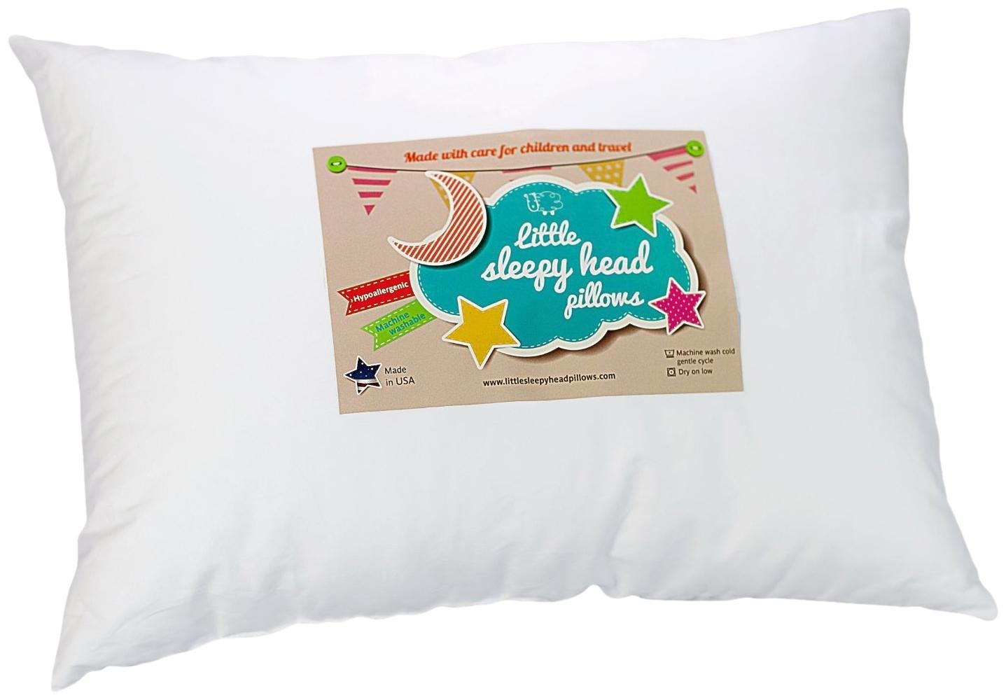 Little Sleepy Head Toddler Pillow, White, 13 x 18, 10 Pack