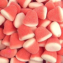 Vidal Strawberry Gummi Drops Pink and White 2.2 lbs