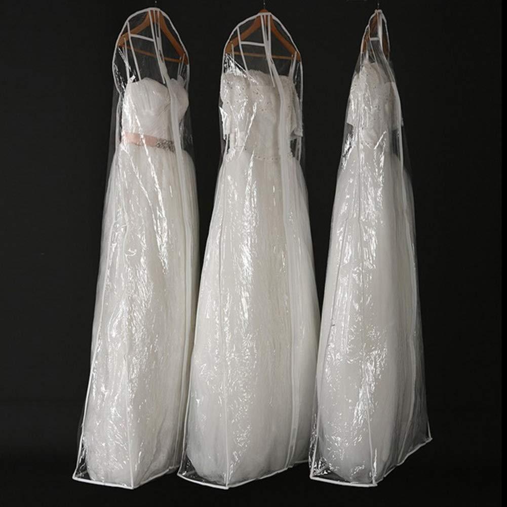 58 30 165cm Housse de protection contre la poussi/ère robe de mari/ée sac de rangement sac de protection cas de mari/ée robe extr/ême longue robe longue v/êtement transparent