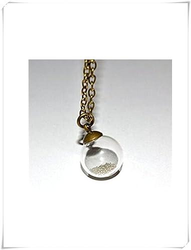 127613c18edd Globo de cristal collar colgante