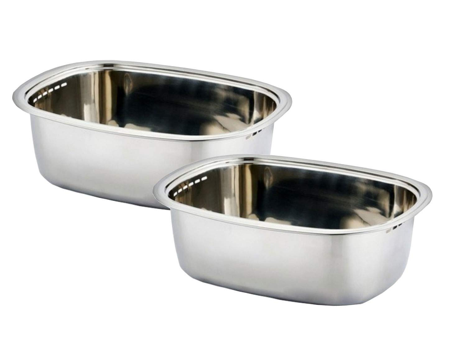 Kitchen Flower Stainless Steel Washing-up Bowl Multi-purpose Dish Tub for Sink Wash Basins Dishpan for Sink