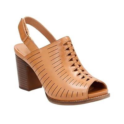 CLARKS Women's Briatta Key Peep Toe Slingback | Sandals