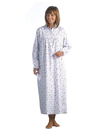 Fashion Friendly Ladies Floral Flannel Nightdress Sizes XS - XXXL  (XX-Large 91499efd4