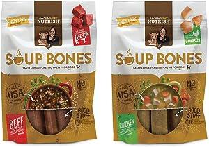 Rachael Ray Nutrish Soup Bones Dog Treats 2 Pack Bundle 6.3oz Packs