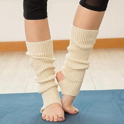 VJGOAL Mujer de moda casual Calentadores Cómodo Transpirable Deportes de punto Calcetines largos de yoga Cubierta(Un tamaño, Blanco): Amazon.es: Ropa y ...