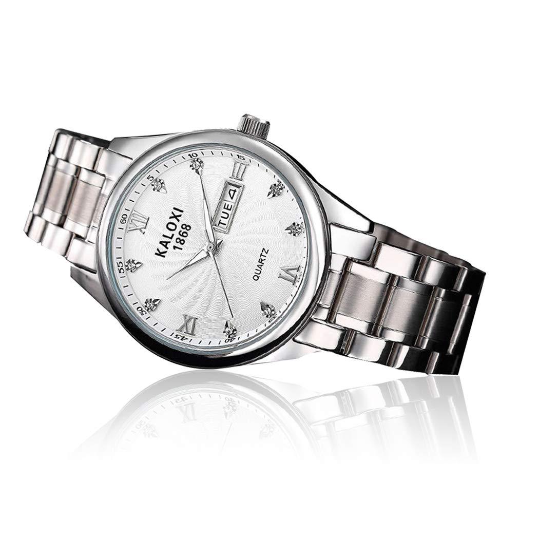 Amazon.com: Loveje - Reloj analógico para hombre, de acero ...