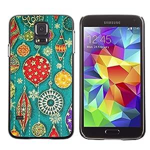 YOYO Slim PC / Aluminium Case Cover Armor Shell Portection //Christmas Holiday Decorations Pattern 1224 //Samsung Galaxy S5