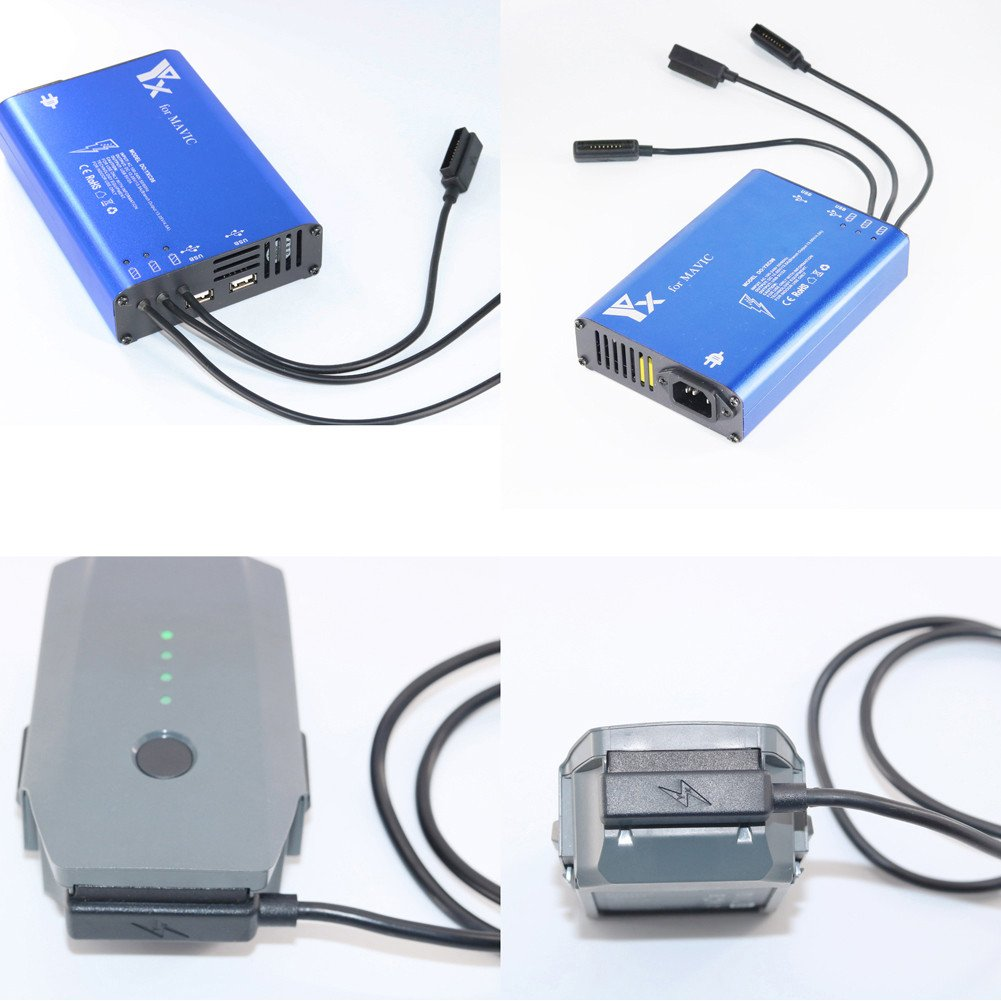 iBellete 5-in-1 Cargador Paralelo de la bater/ía m/últiple de la balanza para dji Mavic Pro Drone
