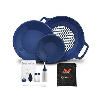 Kit Pro-Gold de Minelab - Kit completo para buscar oro, con tamiz y detector de metales: Amazon.es: Deportes y aire libre