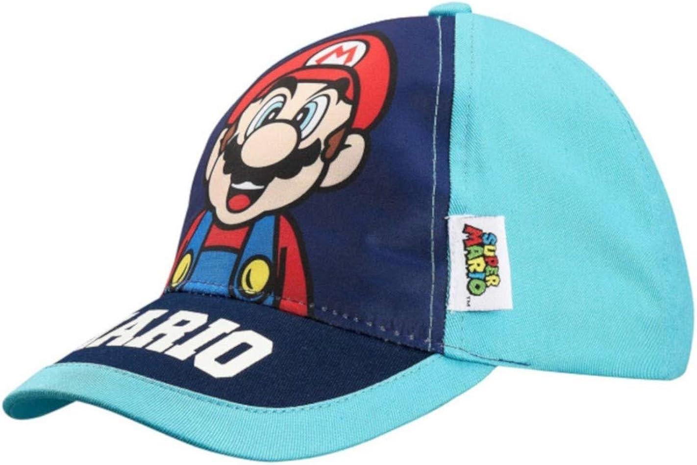 Mario Bros - Gorro - para niño Azul Marino 54 cm (6-9 años ...