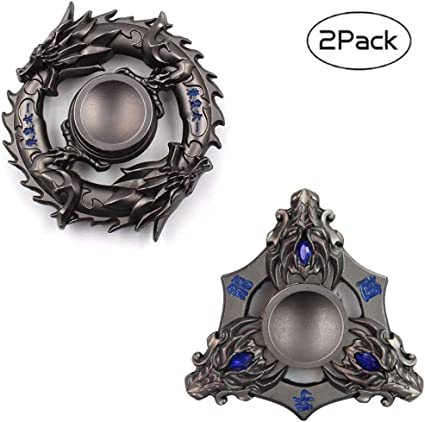 EDC Metal Tri Fidget Hand Spinner Gyro Stress Reliever Toys For Adult KidsADHD