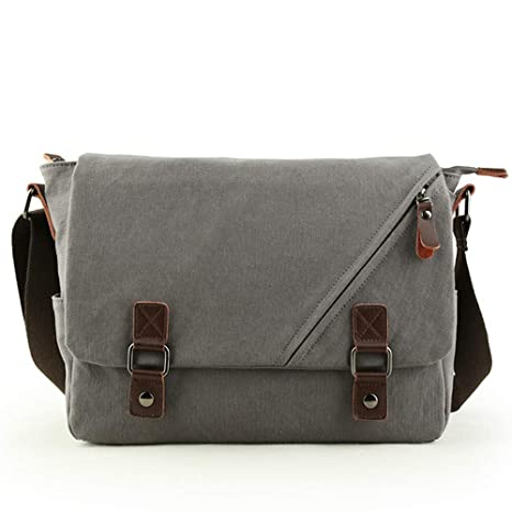 Amazon.com  Retro Men s Backpack Outdoor Travel Bags Large Capacity Canvas  Bag (Light grey)  icanfly9 1018a019c5cab