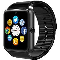 CulturesIn Smart Watch, GT08Touch Screen Bluetooth Braccialetto Orologio con Fotocamera/Sim Slot Card/contapassi analisi/Controllo del Sonno per Android (funzioni) e iOS (Adattatore funzioni)