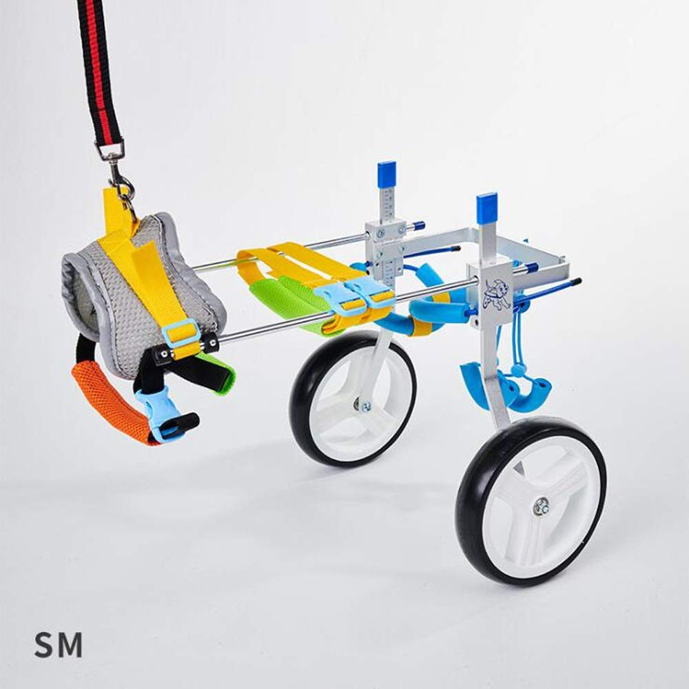 HQSW JL BB Wheelchair Dogs - Pet Wheelchair Assisted Rehabilitation Hind Legs Moped - Dogs and Cats for Small Dogs A++ (Size : Sm) by HQSW JL