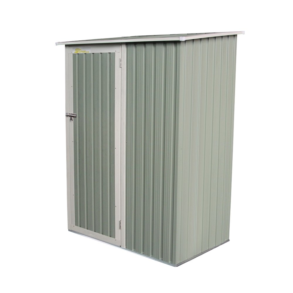 Palm Springs Metal Galvanized Steel Backyard Garden Storage Shed - 4'5'' x 3'