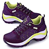 Cheap ONCEMORE Women Summer Running Breathable Shoes Thick Bottom Women's Athletic Traveling Shoes Footwear(Purple,37)