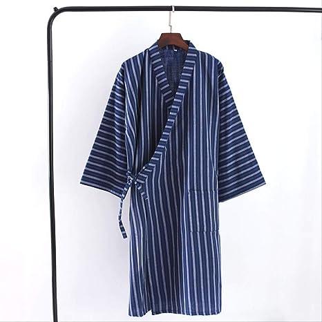 XFLOWR Ropa de Dormir Primavera Camisón para Hombres 100% algodón ...