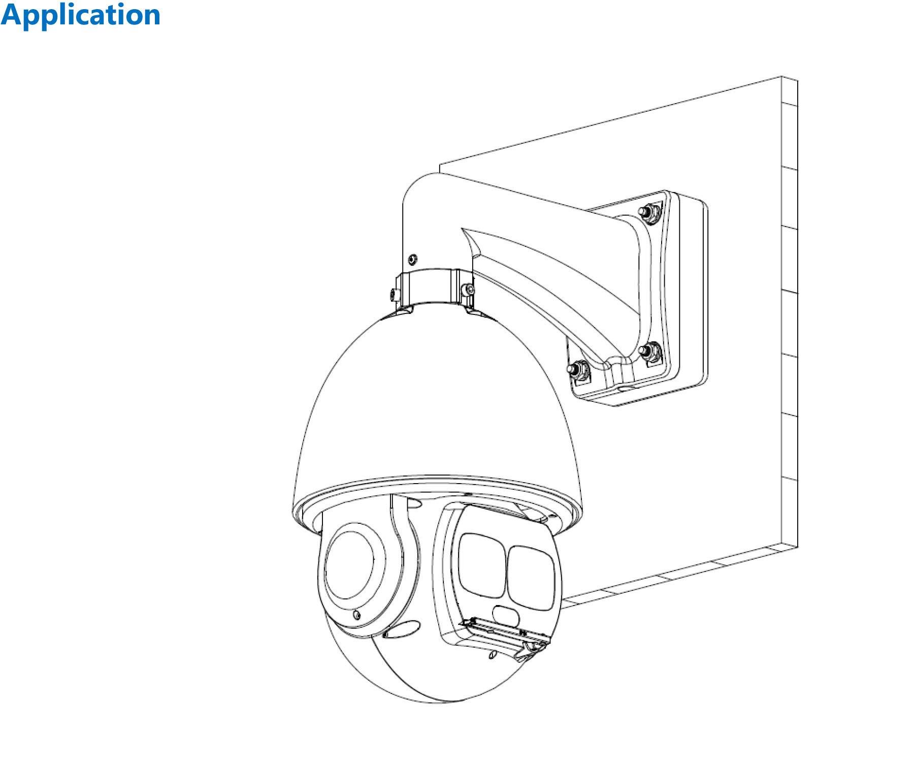 Dahua PFA120 Aluminum Waterproof Junction Box for Dome Cameras by DAHUA Junction Box PFA120 Match with PFB300S, PFB303W, PFA140
