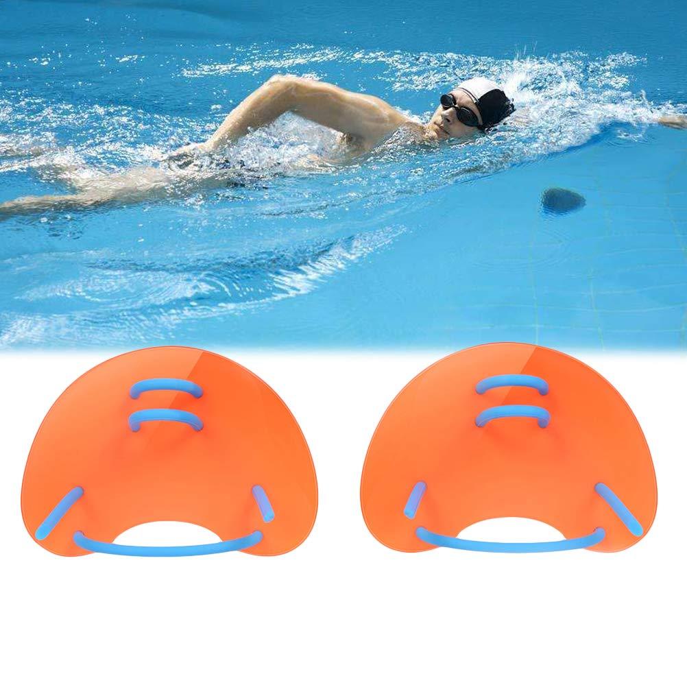 Schwimmtraining Contour Webbed Bionic Paddles f/ür M/änner Frauen Kinder Gro/ße Wasserfestigkeit Vosarea Schwimmhandpaddel