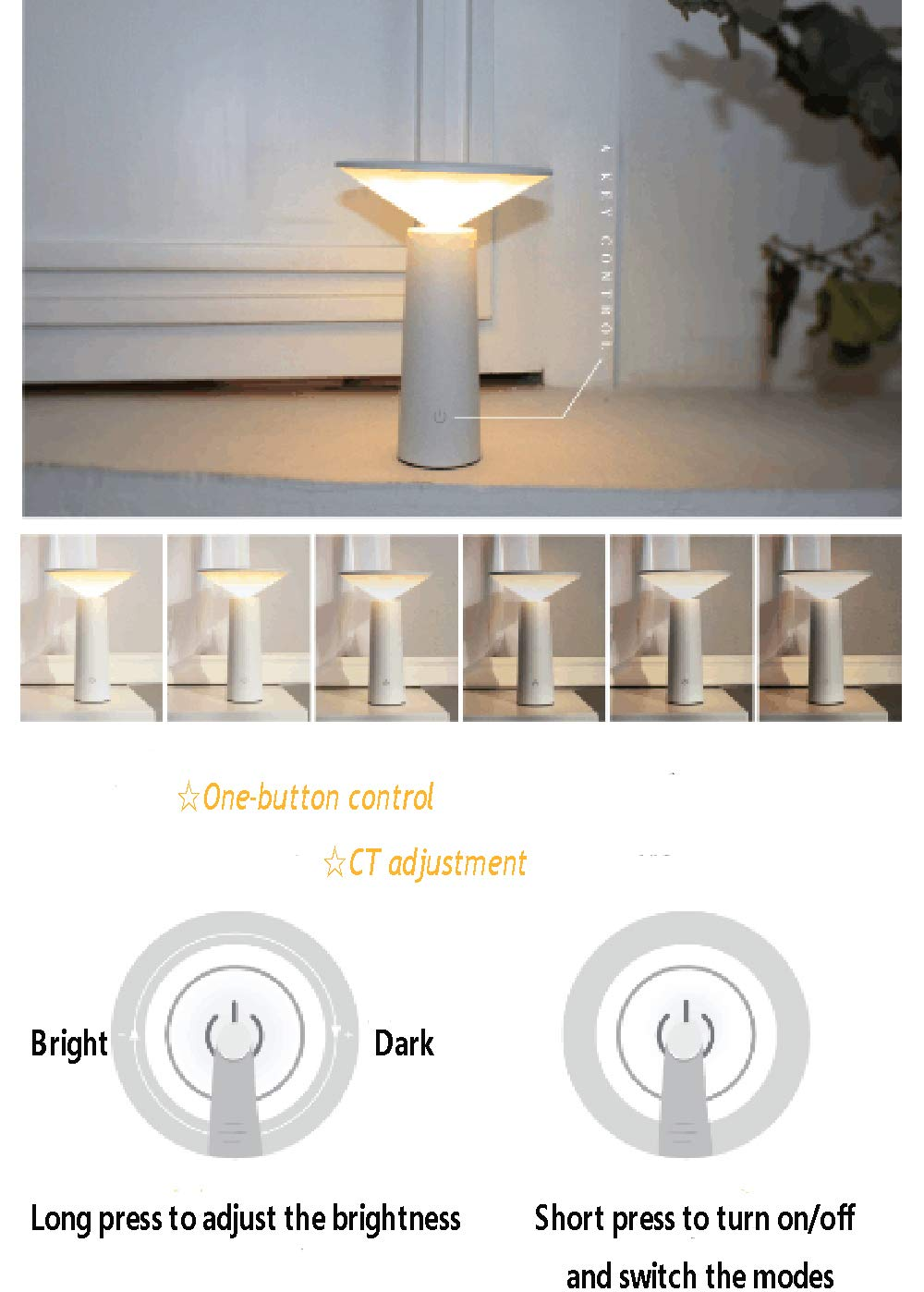 Book Light, Eye-Caring Table Lamps,Book lamp,Desk lamp Modern Minimalist Night Lights,Dimmable Office Lamp with USB Charging Port, Touch Control Sensitive, 3Color Modes,Bedroom Lights