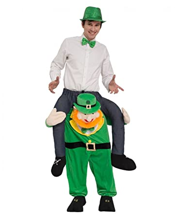 bee6ac6b5ba Horror-Shop Irischer Kobold als Carry Me Kostüm für St. Patricks Day    Fasching