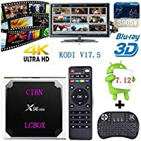 2017 New Genuine guarantee, sold by LCBOX, X96 mini Android 7.12 Kodi v17.6 Smart TV BOX Amlogic S905W Quad Core Suppot H.265 4K 30tps 2.4GHz WiFi Media Player IPTV+Mini Wireless Keyboard