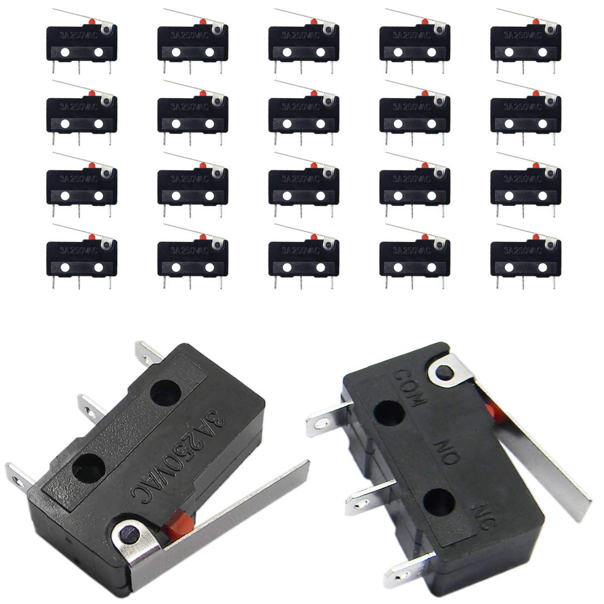 25 pcs microswitch lever with wheel button switch microswitch 5a