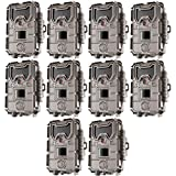 Bushnell 20MP Trophy Cam HD Aggressor No-Glow Trail Camera, Records 1080p Video with Sound (10-Pack)