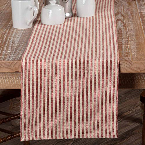 Piper Classics Homespun Red Ticking Table Runner, 13