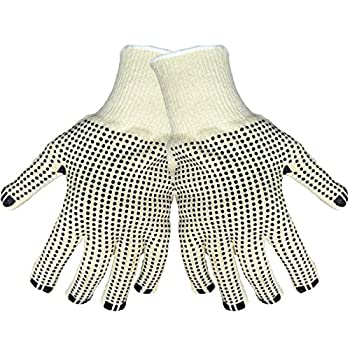 Global Glove T1250D2 Terry Cloth Two sided Dotted Glove, Work, Medium, Natural (Case of 144)