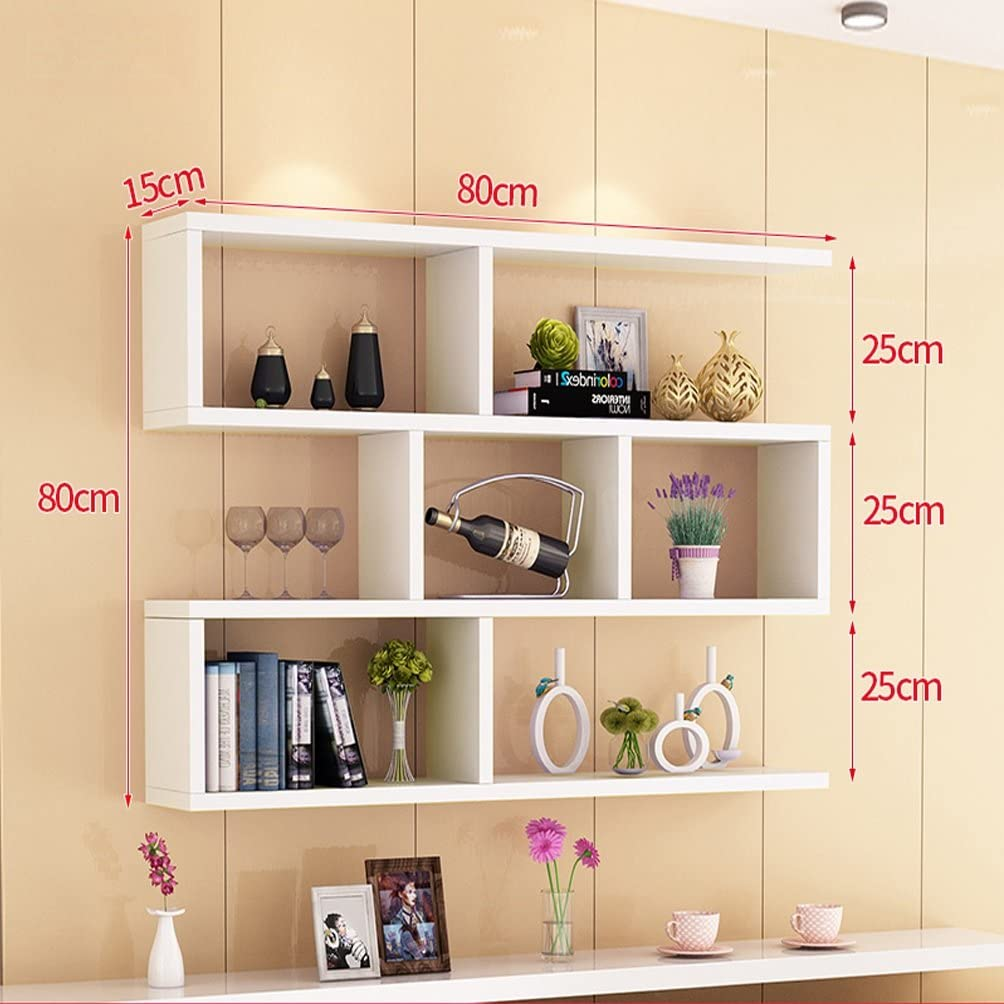 Houyuanshun DSC Shelf Bookshelf Wall-mounted Wall Storage Cabinets