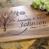 Personalized Cutting Board, Custom Keepsake, Engraved Serving Cheese Plate, Wedding, Anniversary, Engagement, Housewarming, Birthday, Corporate, Closing Gift #403