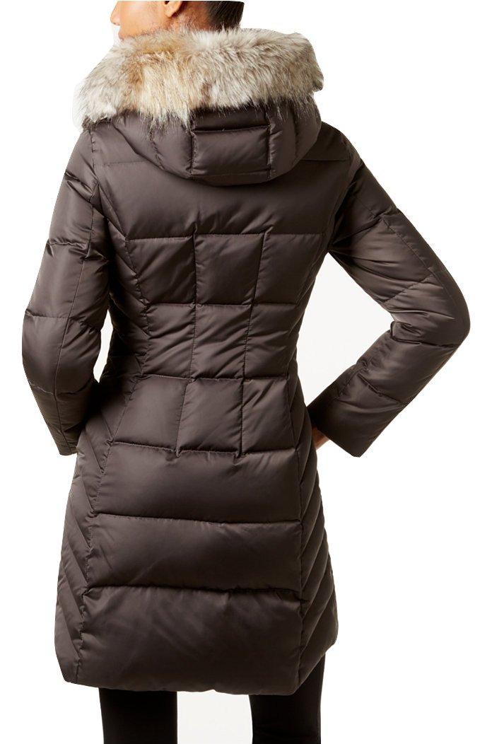 T Tahari women's Dana Faux-Fur-Trim Hooded Puffer Coat (XS) by T Tahari (Image #2)