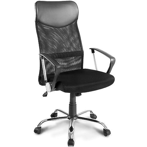 Schreibtischstuhl design  Merax® Schreibtischstuhl Schwarz Design Ergonomischer Bürostuhl ...