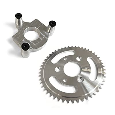 50 Tooth CNC Sprocket With Rear Wheel Hub Adapter : Sports & Outdoors