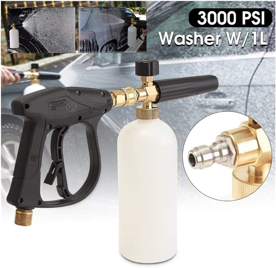 JYSLI Opacity 1L 3000PSI Foam Gun High Pressure Washer Snow Foam Lance Sewer Brush Fittings Clean Gun width (Color : Orange) M14
