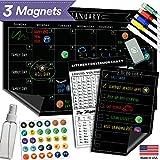 Magnetic Dry Erase Refrigerator Calendar - 17' x 11' - Large...