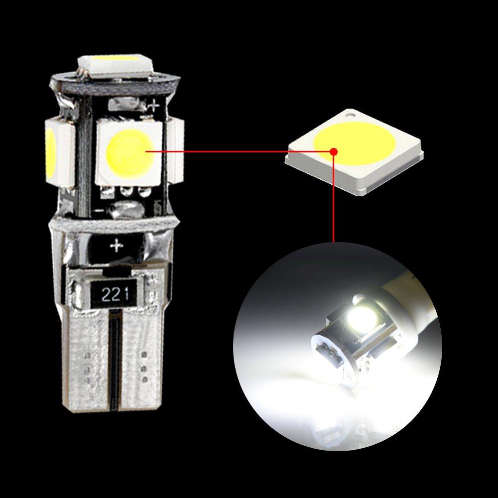Muchkey Ampoules de Voiture Lampe pour A6 LED Canbus sans Erreur Voiture Lampe Dimmatriculation Lumi/ères Lampes Remplacement Blanc 13pcs