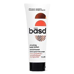Basd Organic Body Lotion, Refreshing Citrus Grapefruit | Natural & Moisturizing Ingredients, Vegan, Hypoallergenic, 8 Ounce Tube
