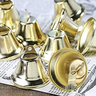 "5/8"" Tiny Gold Metal Liberty Jingle Bells for Crafts and Favor Decorating - 72 Total (2 Packages of 36)"