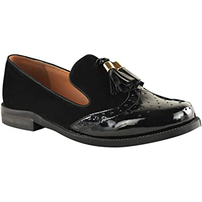 e14eb490354 Fashion Thirsty Womens Flat Tassel Loafers Brogues Dress Shoes Office Size 5