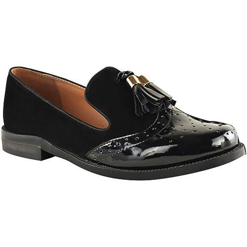 Mujer Vintage Borla Mocasines Planos Escuela Oficina Zapatos Zapatos Oxford Talla: Amazon.es: Zapatos y complementos