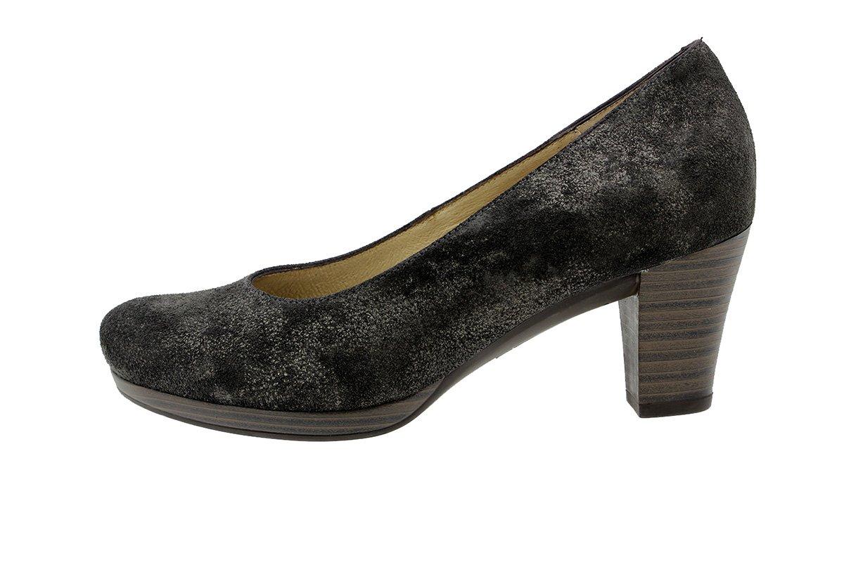 PieSanto Calzado Mujer Confort de Piel 9301 Zapato Salón Cómodo Ancho 38 EU|Carusogris