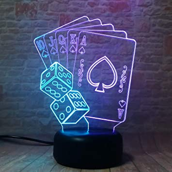 3D Mixed Magician Dice Poker Spades Playing Card 7 Gradiente ...