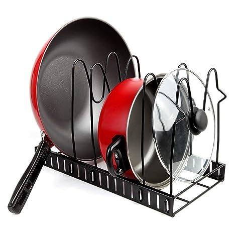 Organizador de tapa de olla, soporte para utensilios de horno, estante de almacenamiento para