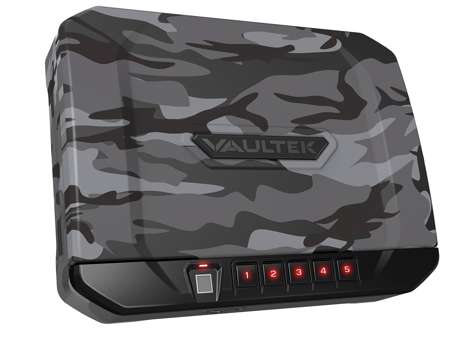 VAULTEK VT20i Biometric Handgun Safe Bluetooth Smart Pistol Safe with Auto-Open Lid and Rechargeable Battery (Urban Camo)