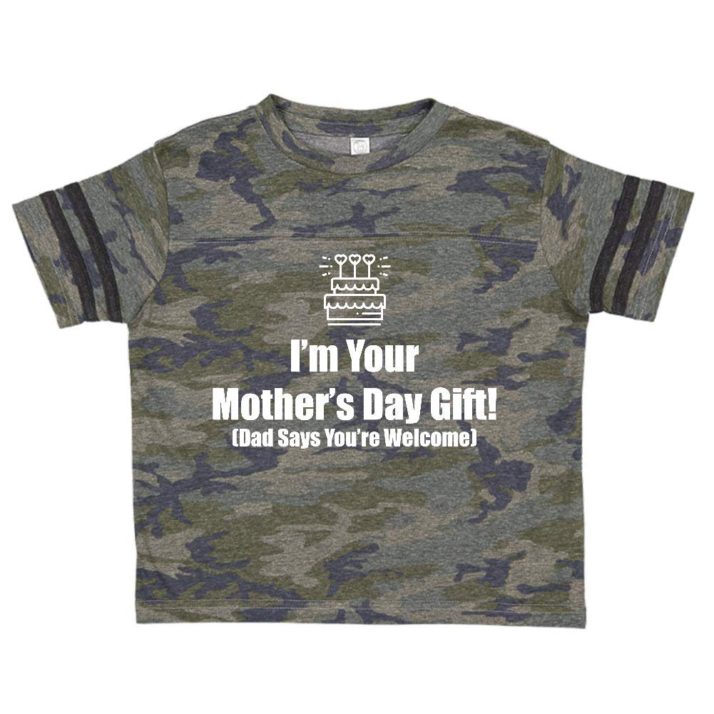 Mashed Clothing Im Your Dad Says Youre Welcome Cake with Candles Toddler//Kids Sporty T-Shirt
